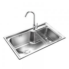 JOMOO 厨房水槽套餐双槽304不锈钢洗碗池 洗菜盆加厚水盆一体水槽 官方正品 赠运费险 五年联保 领券更实惠
