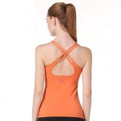 专业瑜伽服双线美背瑜伽背心吊带含胸垫一体式弹力修身运动健身服